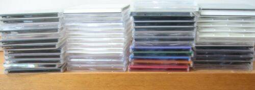 lot: 42 CD JEWEL CASES plastic