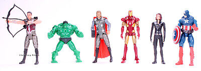 Marvel Avengers Figures 6pcs Set: Hulk Captain America Iron Man Black Widow Thor