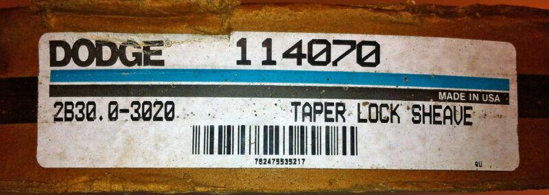 DODGE 114070 2B30.0-3020 TAPER LOCK SHEAVE