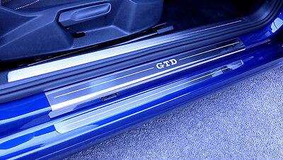 VW Golf Mk7 GTD (Released 2013) 2 Door Sill Protectors / Kick plates