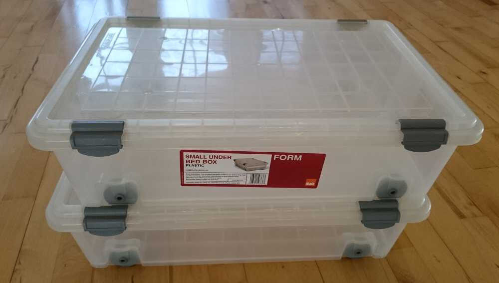 Small under bed storage boxes with lids