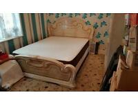 Italian Super King Size Double Bed with Frame