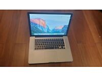 Macbook Pro 15 inch laptop Intel 2.66ghz Core 2 duo processor fully working