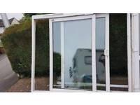 uPVC Double Glazed Patio Door White with Frame