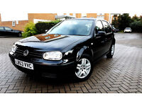 Superb Black VW GOLF 1.6, Full Service History, MOT, 2 Keys.