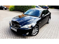 BLACK LEXUS IS 220D SE DIESEL 2008 MANUAL FULL LEATHERS ALLOYS PX