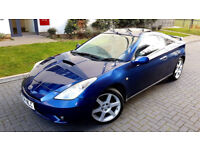 BLUE TOYOTA CELICA 1.8 VVT-i COUPE RECARO LEATHER SEATS ALLOYS SUNROOF PX