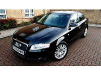SUPERB BLACK AUDI A4 2.0 T FSI SPECIAL EDITION TURBO LOW MILEAGE ALLOYS 200 BHP LEATHERS BOSE SOUND
