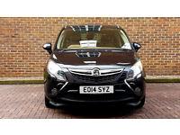 Black Automatic Vauxhall Zafira Diesel NEW SHAPE, Alloys,BEIGE Interior Full Service History, PX