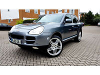 Grey P O R S C H E CAYENNE S TRIPTRONIC 22 inches Alloys SAT NAV FSH