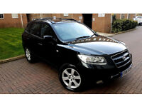 BLACK HYUNDAI SANTA FE 2.7 V6 CDX AUTOMATIC 7 SEATER LOW MILEAGE FULL LEATHER ALLOYS 4X4 PX