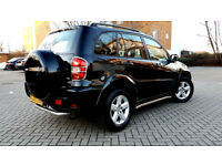 SUPERB BLACK TOYOTA RAV4 2.0 VVT-i XT3 5 DOOR FACE LIFT ALLOYS SIDE STEPS SUNROOF FSH PX