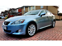SUPERB BLUE LEXUS IS 220D SE-L DIESEL BEIGE LEATHERS ALLOYS FULL LEXUS HISTORY