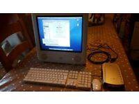 eMac G4 700MHz 1GB RAM 40GB HDD OS X Panther 10.3 & 160gb Crossfire hard drive.