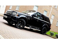 SUPERB BLACK LAND ROVER RANGE ROVER SPORT 4.2 V8 SUPERCHARGED PROJECT KAHN BEIGE INTERIOR ALLOYS PX