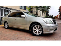 SUPERB SILVER LEXUS LS 430, AUTO, SAT NAV FULLY LOADED, SUNROOF, ALLOYS HISTORY, MOT, ALLOYS