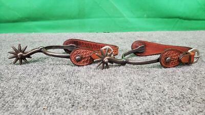 Vintage Buermann Cowboy Spurs - Antique - Leather (SS2074089)