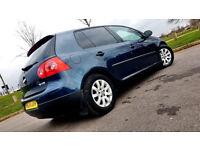 SUPERB BLUE VW VOLKSWAGEN GOLF 1.6 FSI SE 5 DOOR PETROL TINTED WINDOWS ALLOYS LONG MOT PX