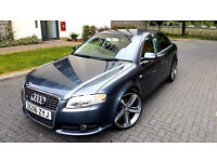 SUPERB GREY AUDI A4 2.0 TDI S LINE DIESEL 19 INCHES ALLOYS FULL SERVICE HISTORY PX