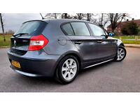 GREY BMW 1 SERIES 120i SPORT 5 DOOR ALLOYS FSH SPORT INTERIOR