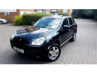 SUPERB BLACK PORSCHE CAYENNE 3.2 V6 2006 TIPTRONIC S SUNROOF SAT NAV TINTED PRIVATE PLATE PX