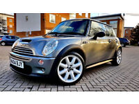 SUPERB MINI COOPER S 1.6 SERVICE HISTORY LONG MOT ALLOYS XENON LEATHERS PX