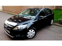BLACK FORD FOCUS 1.8 TDCI TITANIUM 5 DOOR HATCHBACK 2009 DIESEL MANUAL