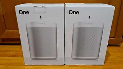 2X Sonos One (GEN 2) with Alexa Built-in - White, NEW AND SEALED