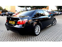 BLACK BMW 5 SERIES 530D M SPORT 2 OWNERS ALLOYS TINTED WINDOWS