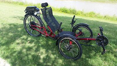 57b07499d30 Folding Recumbent Frame for Ultimate Electric Motorized Trike Bike