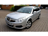 Silver Vauxhall Vectra Exclusive 1.8 2006 Alloys 1 previous owner, Sound Car