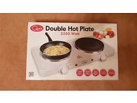 2 x (Quest) Electric Twin Hob Non-stick Portable Hot Plate (2500 watts)