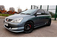 SUPERB GREY HONDA CIVIC 2.0 i-VTEC Type R BLACK ALLOYS RED CALLIPERS EXHAUST TINTED PX