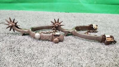 Vintage Buermann Cowboy Spurs - Antique - Chain (SS2074091)