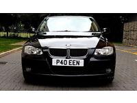 BLACK BMW 3 SERIES 2.0 320i Petrol, Manual, Private Plate, Alloys, MOT