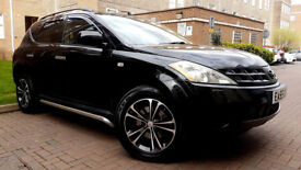 BLACK NISSAN MURANO 3.5 AUTO LOW MILAGE SAT NAV SUN ROOF ALLOYS LEATHER INTERIOR SERVICE HISTORY PX