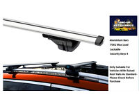 ALUMINIUM LOCKING ROOF BARS/CROSS RAILS FOR ANY VEHICLE AUDI BMW VOLVO ISUZU ANY VEHICLE