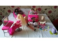 Barbie set and accessories
