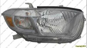 Head Light Passenger Side Sport Model High Quality Toyota Highlander 2010