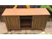 Collection Ohio 2 Door Low Sideboard & TV Unit-Walnut Effect