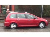 Peugeot 307 SW 2.0 HDi S 5dr 5 Door 6 Seater Family Car Red Spare Parts £500 ono