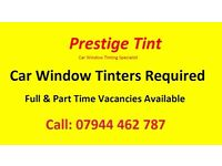 Job Vacancy for Professional Car Window Tinter, Tinting Staff Vacancy