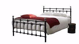 Oxford Kingsize (5ft) metal bed frame - Black (NEW)