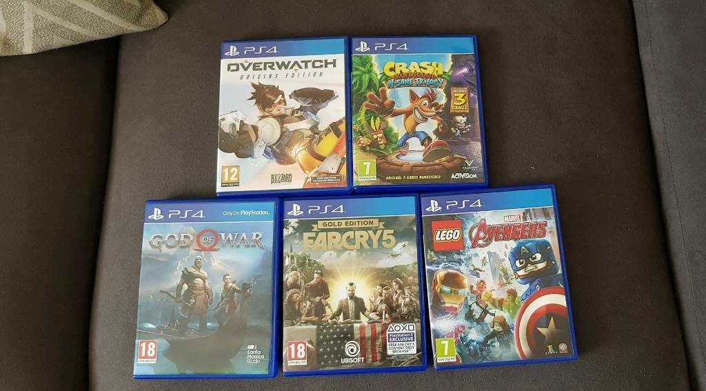 God Of War Far Cry 5 No Dlc Overwatchcrash Bandicoot