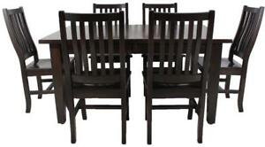 Amish Mennonites Handcrafted Solid Candian Wood Dining Table Sets for Your DIY Projects - FREE SHIPPING Across Canada