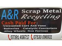 Cash paid for all unwanted/scrap cars and vans