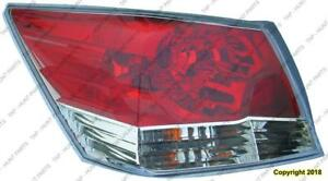 Tail Light Driver Side Sedan Honda Accord 2008-2012