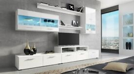 Brand New Wall Unit in white high gloss