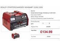 SEALEY STARTER/CHARGER 180/40AMP 12/24V 230V