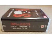 Sons of Anarchy season 1 - 5 DVD box set - 66 episodes, in perfect condition